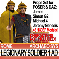Props Set Poser DAZ for Ancient Rome Legionary Soldier 1 AD