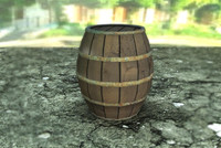 3d model barrel container