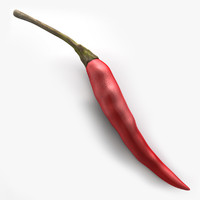 3d model chili pepper