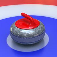 3d model curling stone