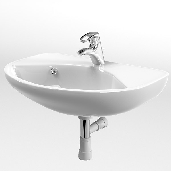 Gustavberg wall mounted sink lavatory modern contemporary fucet mixer ...