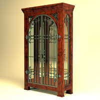 Wrought iron Display Cabinet