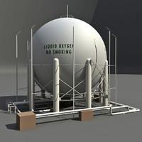 3d model oxygen storage
