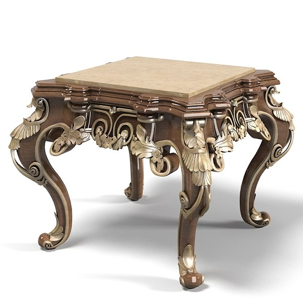 Riva mobili d`arte baroque side table 7357 classic end coffee cocktail carved rococo empire.jpg