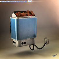 3d model sauna heater -