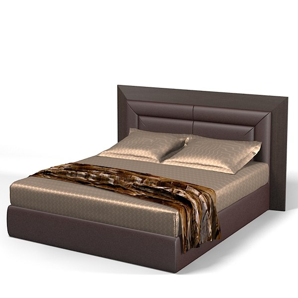 3d smania double bed model for Double bed with box design