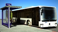 mercedes conecto bus 3d max