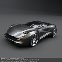 coupe concept car 3d obj