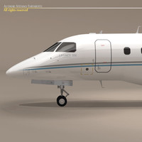 3d embraer legacy 500 generic model