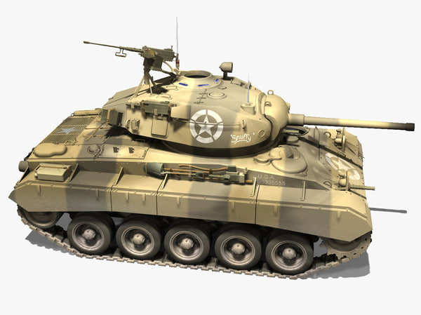 3d tanks m24 - m24 chaffee... by ccbuckeye