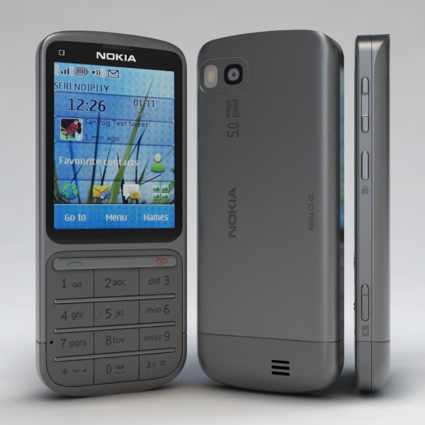 Nokia C3-01 Touch and Type Grey