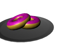 3d model of tasty donut