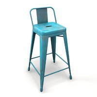 3d chair barstool tolix