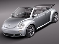 3d model volkswagen beetle 2005 2011