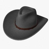 3dsmax western hat