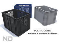3d model plastic container -