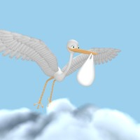 Cartoon Stork