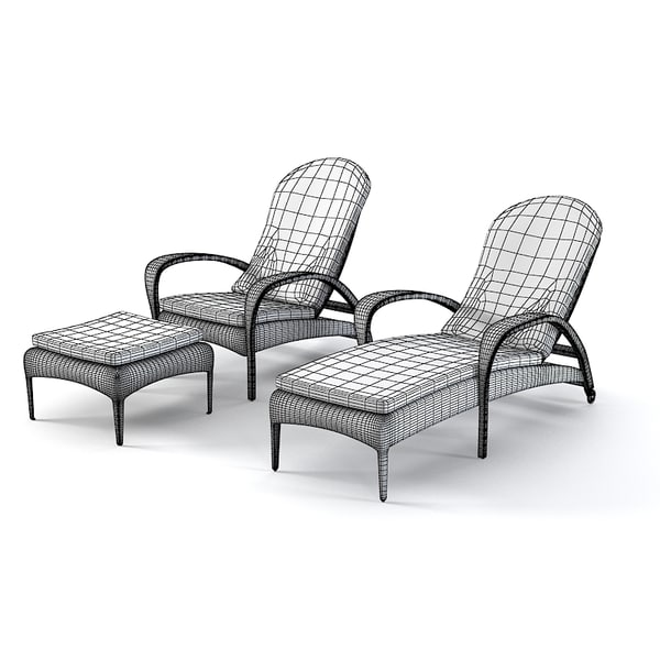 3d model dedon tango beach - Dedon Tango Beach chair set... by archstyle