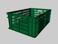 fruit crate 3d model
