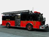 3d firetruck truck pumper