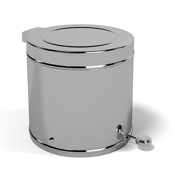 htg jcd bathroom trash basket can metal wastebasket