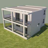 house contemporary 3d max