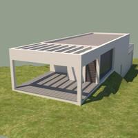 house contemporary 3d 3ds