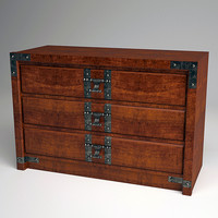3d 3ds dresser drawers