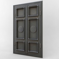 obj door dark weathered