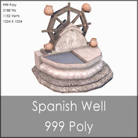 Medieval Well, Low Poly, Textured