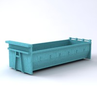 3d truck container model