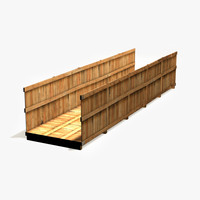 3d model wooden container box