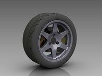 ige solidworks rear wheel-tire wheel tire