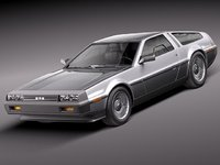 3d model of delorean dmc-12 sport