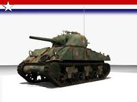 m4a3 tank 3d lwo