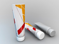 cosmetic cream tube 3d model