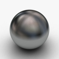 3d model of metalic ball