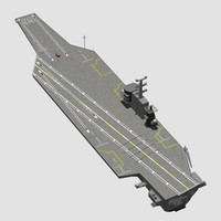 generic aircraft carrier 3d max