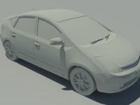 hybrid car 3d 3ds