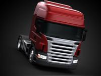 3d truck scania semi model