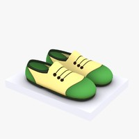 Cartoon Shoes 01 (5 texture variations)