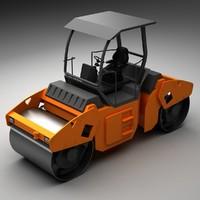 asphalt roller 3d 3ds