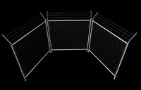 3d model of wired fence set