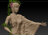 3ds max stone lady
