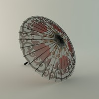 3d chinese umbrella