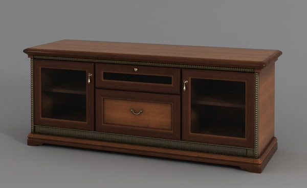 3d model of tv table -> Model Table Tele
