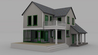 farmhouse house 3d obj