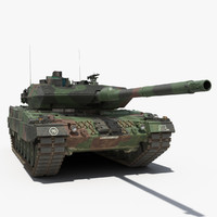 german army battle tank 3d model