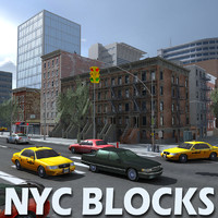 new york city blocks 3d model
