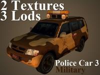 police car 3 3d max